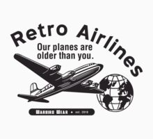 Retro Airlines Logo (Black) by warbirdwear