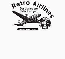 Retro Airlines Logo (Black) Unisex T-Shirt