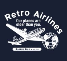 Retro Airlines Logo (White) by warbirdwear