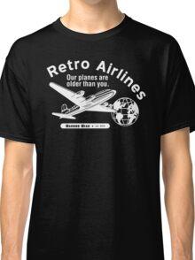 Retro Airlines Logo (White) Classic T-Shirt