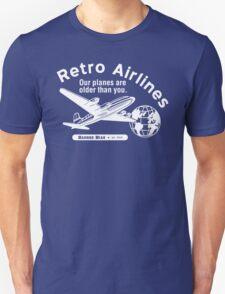 Retro Airlines Logo (White) Unisex T-Shirt