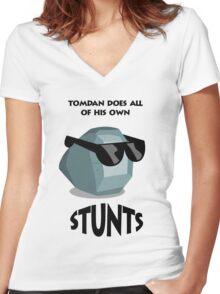 Tom Dan White Women's Fitted V-Neck T-Shirt
