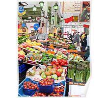 vegetable market in Rome Poster