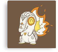 Cyndaquil Pokemuerto | Pokemon & Day of The Dead Mashup Canvas Print