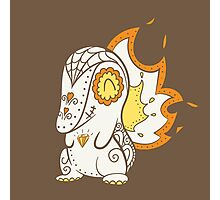 Cyndaquil Pokemuerto | Pokemon & Day of The Dead Mashup Photographic Print