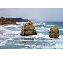 Rain Heading in Great Ocean Road- Vic  Photographic Print