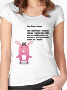Resist The Bunny! Women's Fitted Scoop T-Shirt