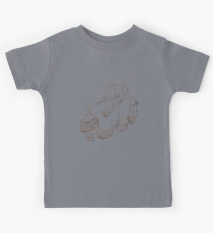 car doodle with mirror ball grill Kids Tee