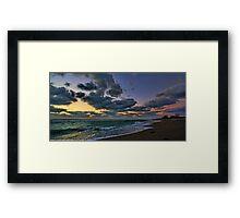 Clouds at Sunset - Venice,  Florida Framed Print