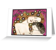'Mother and child' my version of Klimt Greeting Card