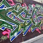 Colourful Graffiti in Kensington Market by Gerda Grice