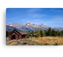 Chapel at Grand Teton National Park Canvas Print