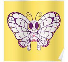 Butterfree Pokemuerto | Pokemon & Day of The Dead Mashup Poster