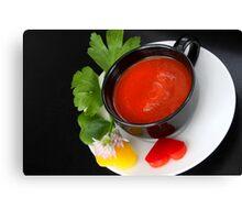 Red Pepper 4 Light Food Pleasure Canvas Print