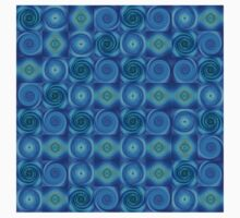 Blue Circles Abstract Art by Sharon Cummings Kids Tee