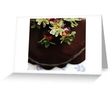 Chocolate Cayenne Cake Greeting Card