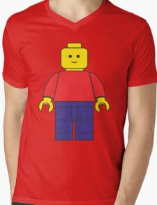 Original Lego Mini Figure Mens V-Neck T-Shirt