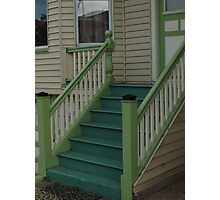 Blue and Green San Francisco Stairs Photographic Print