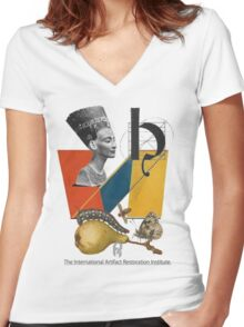 The International Artifact Restoration Institute. Women's Fitted V-Neck T-Shirt