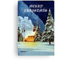 Merry Christmas Card Canvas Print
