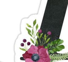 Letter A with Floral Wreaths Sticker