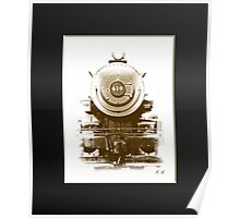 Boston and Maine 410 steam engine front  Poster