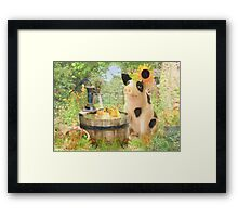 Prudence and the Dilly Ducks Framed Print