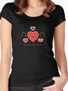 You fill my heart containers. Women's Fitted Scoop T-Shirt