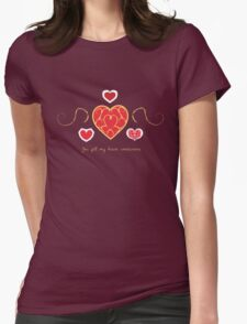 You fill my heart containers. Womens Fitted T-Shirt