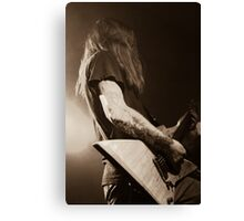 Tattoo Guitar Canvas Print