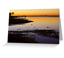 Baxters Jetty, Sandgate at first light. Brisbane, Queensland, Australia.  Greeting Card