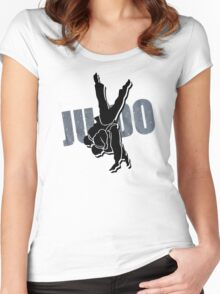 Japan Judo Women's Fitted Scoop T-Shirt