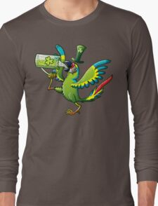 Saint Patrick's Day Macaw Long Sleeve T-Shirt