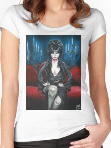 Elvira Portrait Women's Fitted Scoop T-Shirt