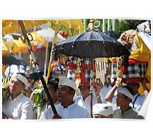 Bali temple procession Poster