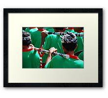 Balinese gong paraders Framed Print
