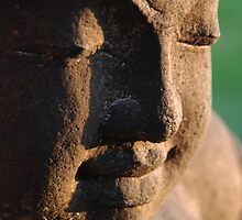 Buddha's face by Michael Brewer