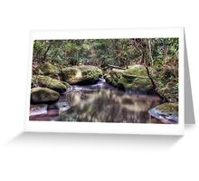 Lovers Leap Creek Greeting Card
