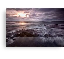 Barely A Sunrise - Blackwoods Beach, NSW Canvas Print