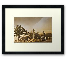 On the way to Falaise Framed Print