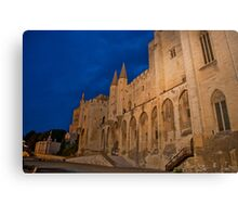 Castle at night in Avignon, France Canvas Print