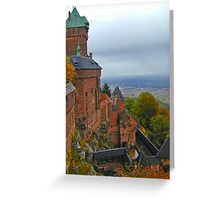 Castle in Alsace retouched Greeting Card