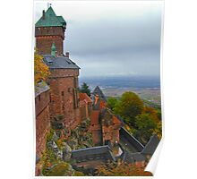 Castle in Alsace retouched Poster