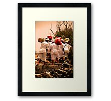 ceremony procession on pemateran island Framed Print