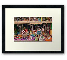Colorful cafe at Seminyak Beach in Bali, Indonesia Framed Print