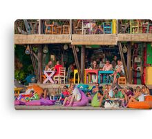 Colorful cafe at Seminyak Beach in Bali, Indonesia Canvas Print