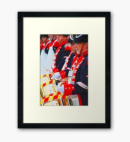 drum corps Framed Print