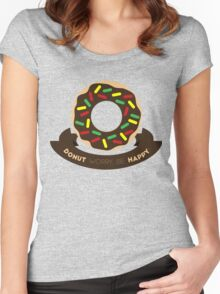 Donut Worry! Women's Fitted Scoop T-Shirt