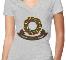 Donut Worry! Women's Fitted V-Neck T-Shirt