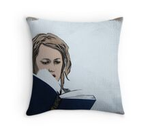 The Novel Reader Painting Throw Pillow